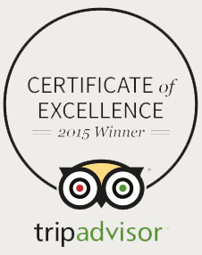 TripAdvisor Certificate of Excellence 2015 Winner